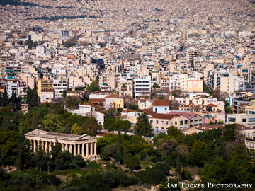 Overlooking Athens, Greece