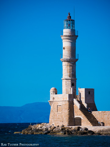The Venetian Lighthouse has been guiding ships and boats since the 16th century in Chania, Crete.