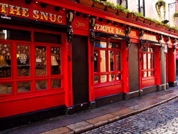 A pub in Dublin's Temple Bar District