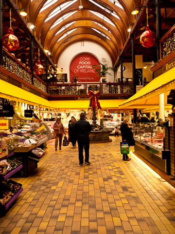 The main entrance of the English Market in Cork, Ireland.