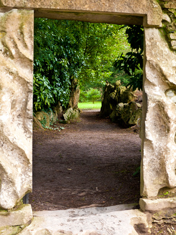An entrance to the grounds of the Blarney Castle in Ireland.