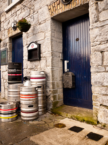 The back entrance to a pub in Galway Ireland.
