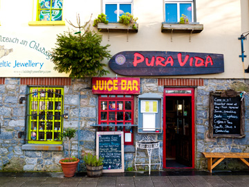 A juice bar in Galway, Ireland.