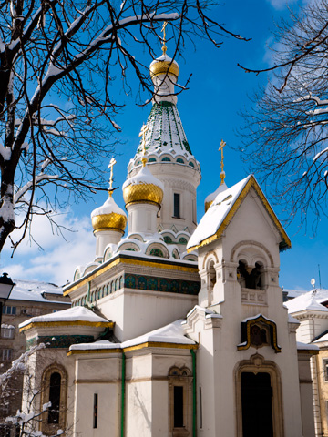 St Nicholas the Miracle Maker, a Russian church in Sofia, Bulgaria