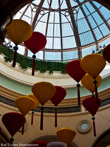 Chinese New Year decorations displayed at the Venetian Hotel and Casino in Las Vegas