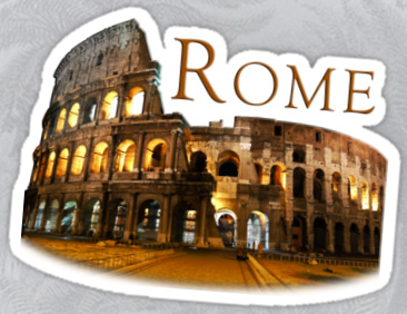 Rome's coliseum sticker