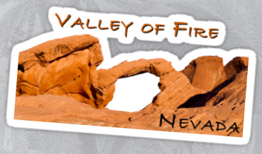Valley of Fire, Nevada Sticker