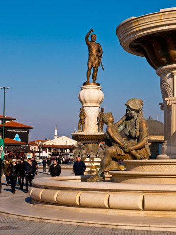 Fountain of the Mothers in Skopje, Macedonia