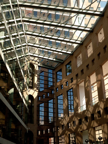 Inner courtyard of the central branch of the Vancouver Public Library