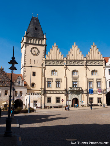 The Tabor town hall in the South Bohemia region of the Czech Republic