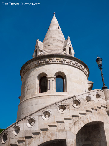 One of the seven turrets of Fisherman's Bastion in Budapest, Hungary.
