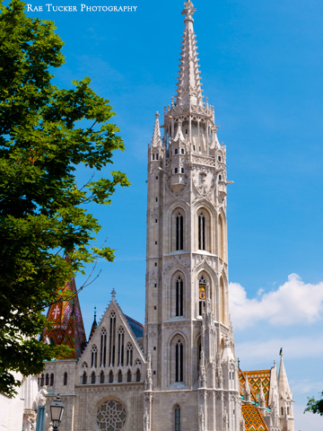 The bell tower of Matthias Church in Budapest, Hungary