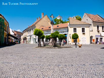 A town square in Szentendre, Hungary