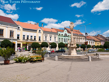 Tapolca main square in Hungary