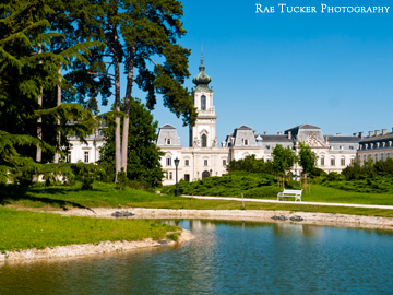 Festetics Palace and gardens in Keszthely, Hungary