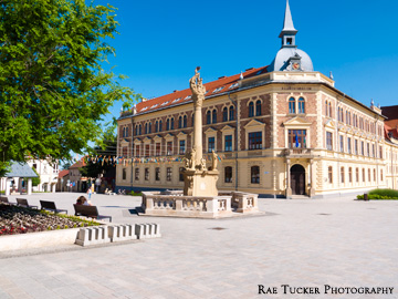 A square in Keszthely, Hungary