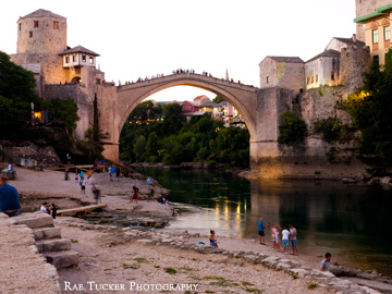 Dusk over Stari Most in Mostar, BiH
