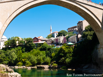 Under the bridge in Mostar, BiH