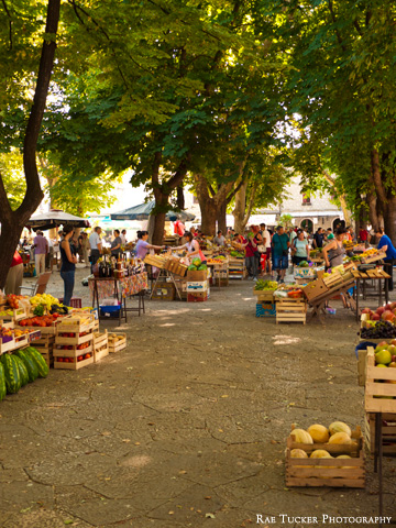 The city market in Trebinje, Bosnia and Herzegovina