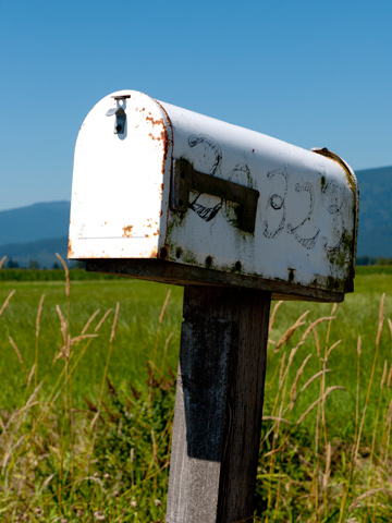 A country mail box in British Columbia, Canada