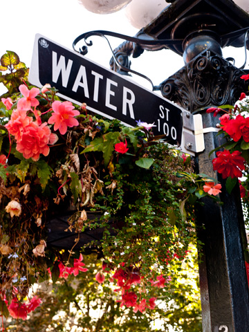 Gastown's Water Street in Vancouver, Canada