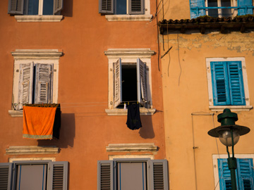 The bold colors of Rovinj in the summer