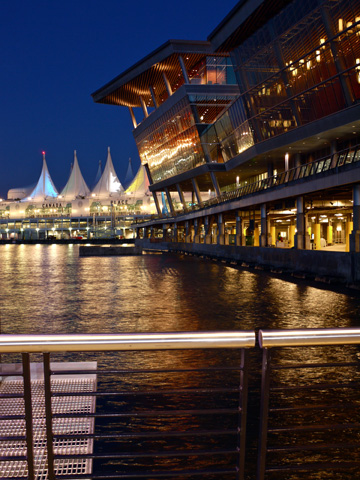 Vancouver's Convention Centre sits beside Canada Place