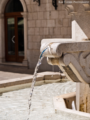 A water fountain in Trebinje, Bosnia and Herzegovina