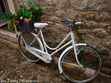 A bicycle in Budva, Montenegro