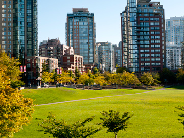 Yaletown in Vancouver, Canada during the early autumn