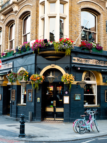 An English pub in London, United Kingdom