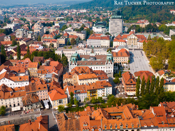 City view from the Ljubljana Castle