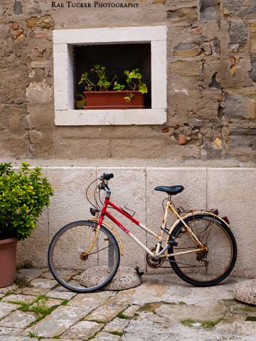 A bicycle in Piran, Slovenia