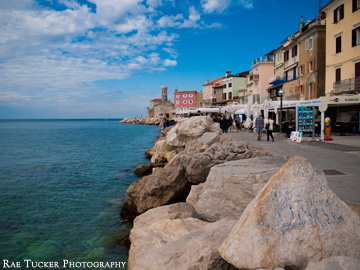 The Riva in Piran, Slovenia