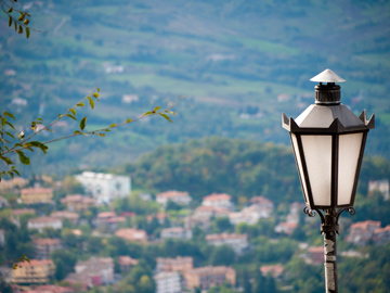 A street light in San Marino