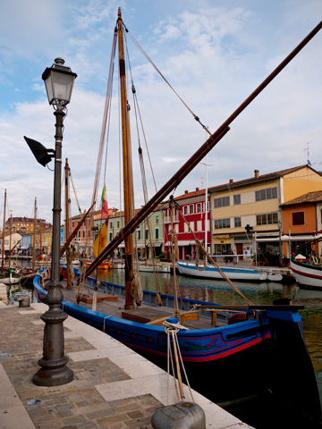A coastal scene in Cesenatico, Italy