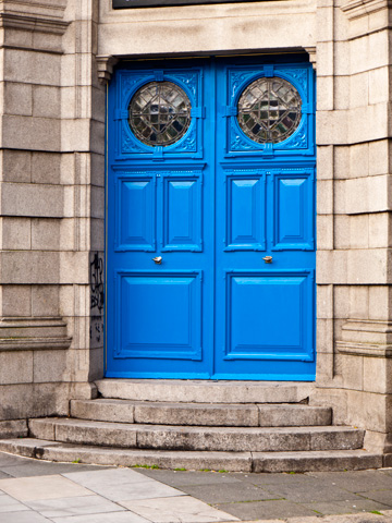 Blue doors in Dublin, Ireland