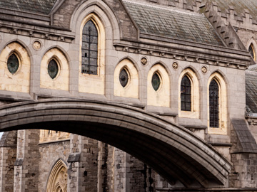 The bridge of the Christ Church Cathedral in Dublin, Ireland