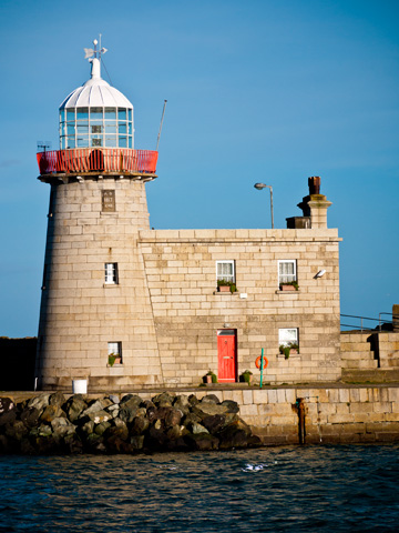 A lighthouse in Howth in Dublin, Ireland