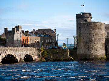 King John's Castle stands by the River Shannon in Limerick, Ireland.