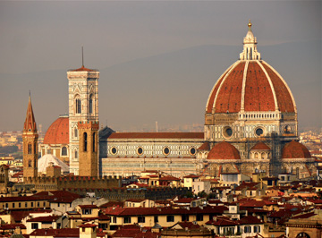 The Duomo stands as the tallest building in Florence, Italy