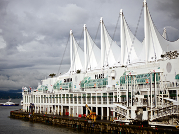 Canada Place acts as Vancouver's cruise ship terminal