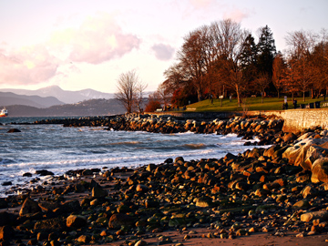 Winter at English Bay in Vancouver, Canada