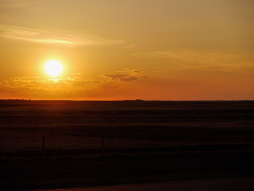 A prairie sunset in Alberta, Canada