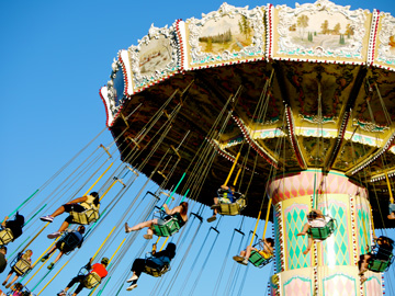 Carnival swings in Vancouver, British Columbia, Canada