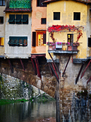 The Ponte Vecchio during the autumn months in Florence, Italy