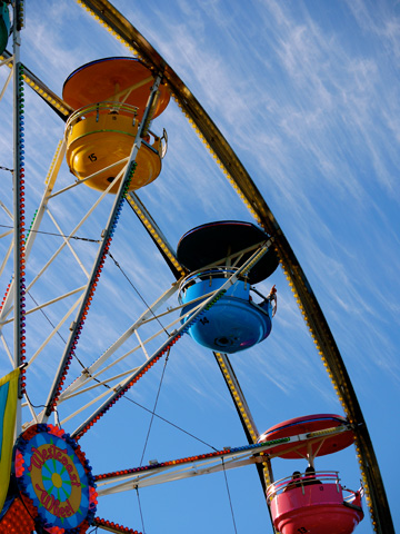 The ferris wheel at Playland in Vancouver, British Columbia, Canada