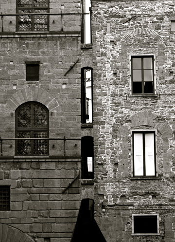 Two joined buildings in Florence, Italy