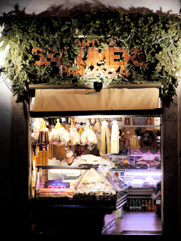 A small italian shop in Rome, Italy