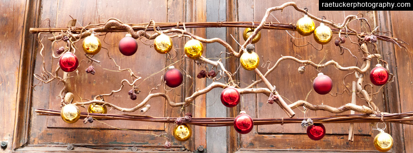 Christmas Ornaments Facebook Banner